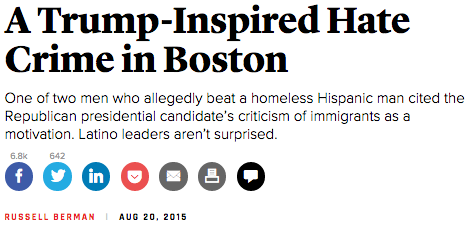 Atlantic Trump Hate Crime
